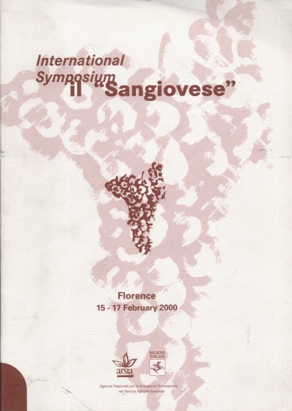"International Symposium il ""Sangiovese"". Florence 15-17 February 2000"